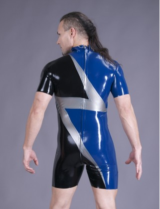 "Herren Latex Design Body ""Blitz"""