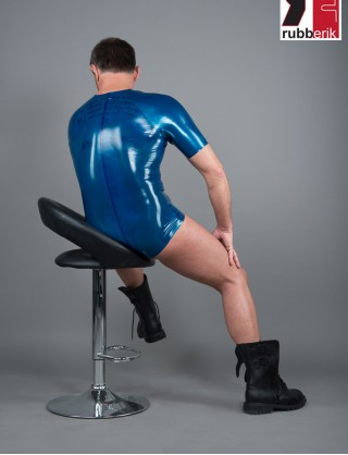 Herren Latex Body mit Raglanärmel