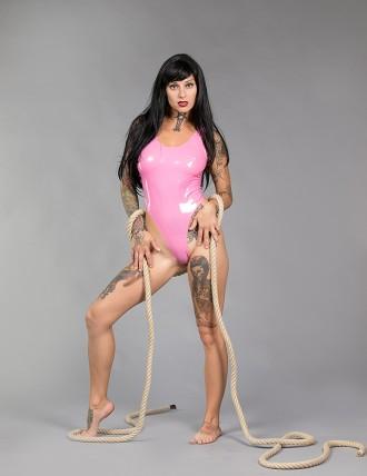 Latex Damen klassischer String-Body