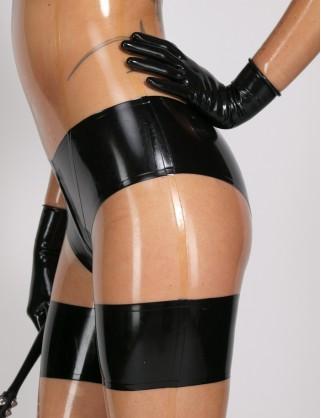 Damen Latex Catsuit in Unterwäsche Optik