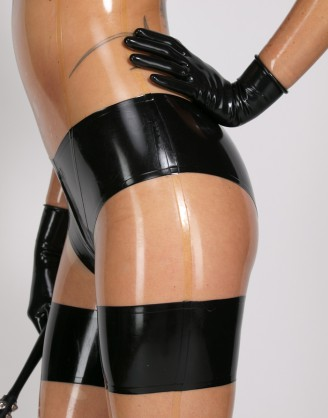 Damen Latex Catsuit in Unterwäsche Optik