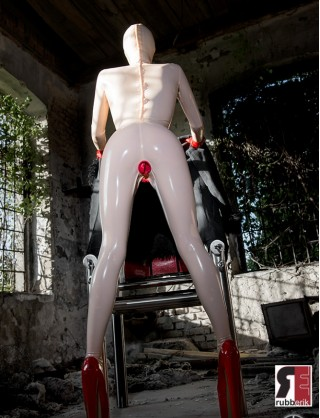 Damen Latex Catsuit Doll Anzug