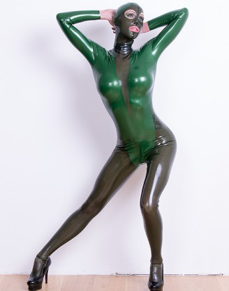 Damen Latex Catsuit in Body Optik