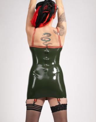 Damen Latex Minikleid mit Trägern