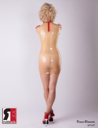 Damen Latex Etuikleid
