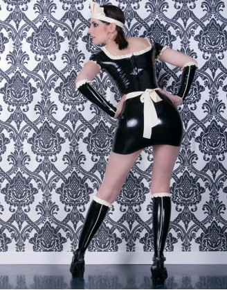 "Damen Latex Minikleid ""Dienstmädchen"""