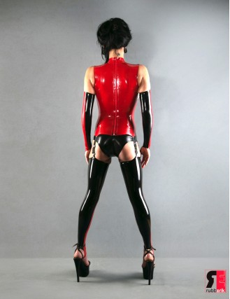 Latex lange Armstulpen DUO