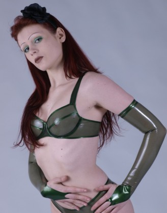 Latex Lange Armstulpen