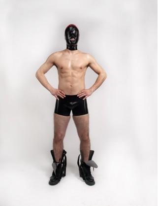 Herren Latex Boxer