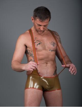 Herren Latex Pants-Body