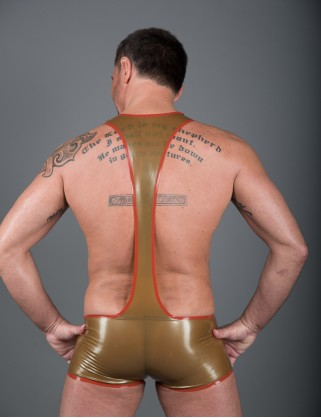 Herren Latex Hotpants-Body