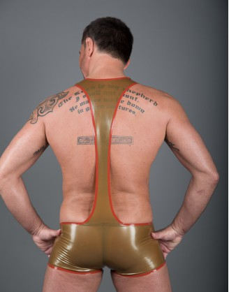 Herren Latex Pants-Body