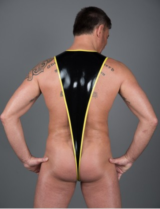 Herren Latex Stola-Body