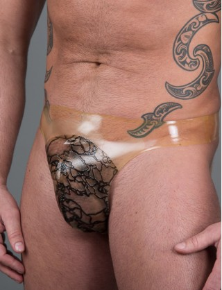 Herren Latex Design String Tanga