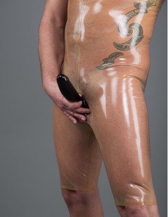 Herren Latex Bermuda Unterbrust-Hoch