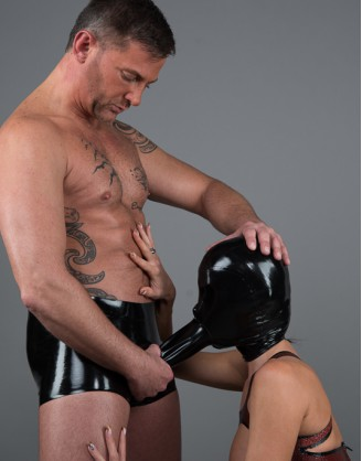 "Latex Unisex ""Blow Job"" Masken Shorts"