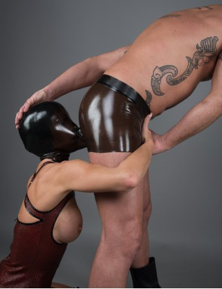 Latex Unisex Masken Shorts