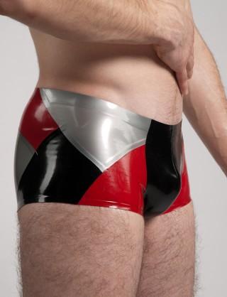 Herren Latex dreifärbige Shorts