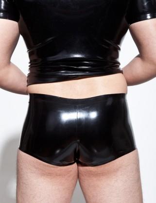 Klassische Herren Latex Hotpants