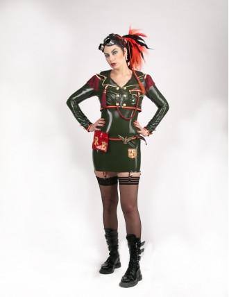 Damen Latex Militär-Jacke