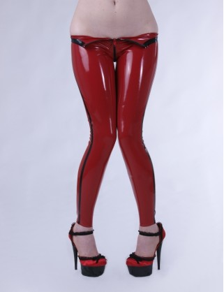 Latex Leggings hoch geschnitten