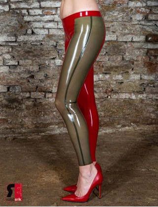 Latex zweifärbige Leggings