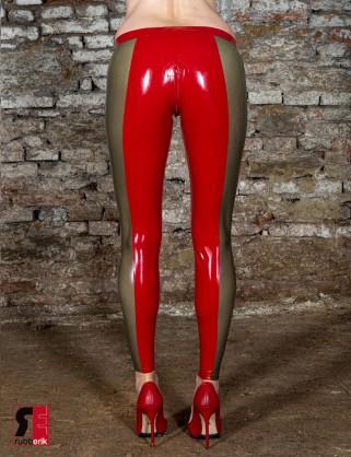 Latex zweifärbige Leggings