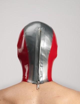 Latex dreifärbige Maske