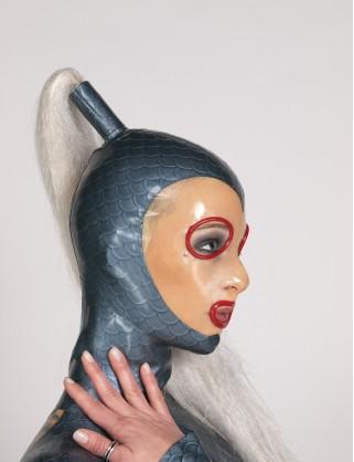 Latex Rollringe-Augen Maske