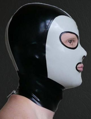 Klassische Latex Maske mit runden Augen