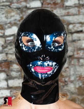 Latex Cumshot Maske 2