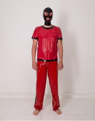 Herren Latex Pyjama T-Shirt