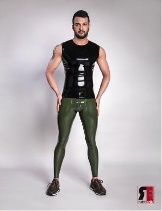 Herren Latex Shirt