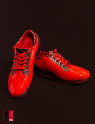 Red devil Latexschuhe
