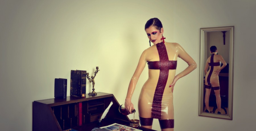 Latex Mini-Kleid