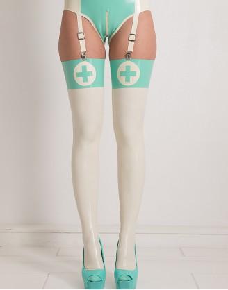 Latex Strümpfe in Krankenschwester Optik