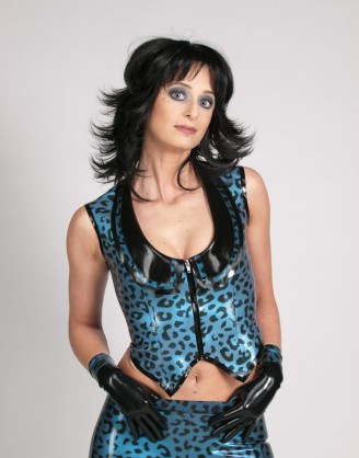 Damen Latex Gilet