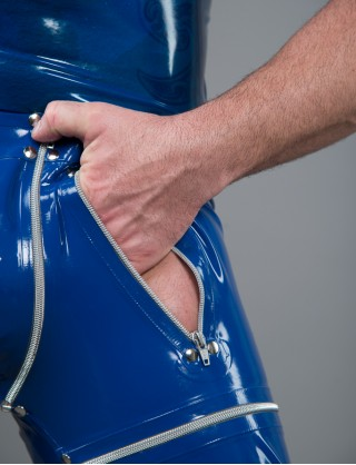 Herren Latex Design Hose