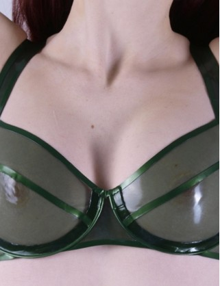 Damen Latex Bügel BH mit Vollcup